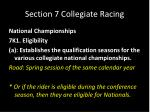 section 7 collegiate racing24