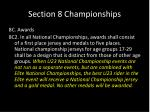 section 8 championships