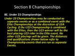 section 8 championships26