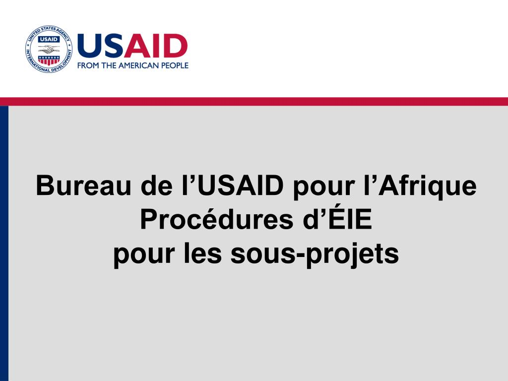 bureau de l usaid pour l afrique proc dures d ie pour les sous projets l.