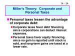 miller s theory corporate and personal taxes
