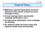 trade off theory