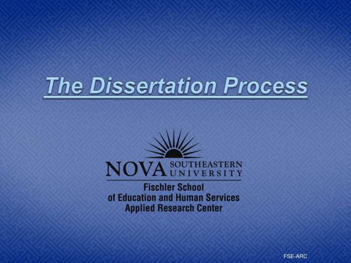 the dissertation process n.