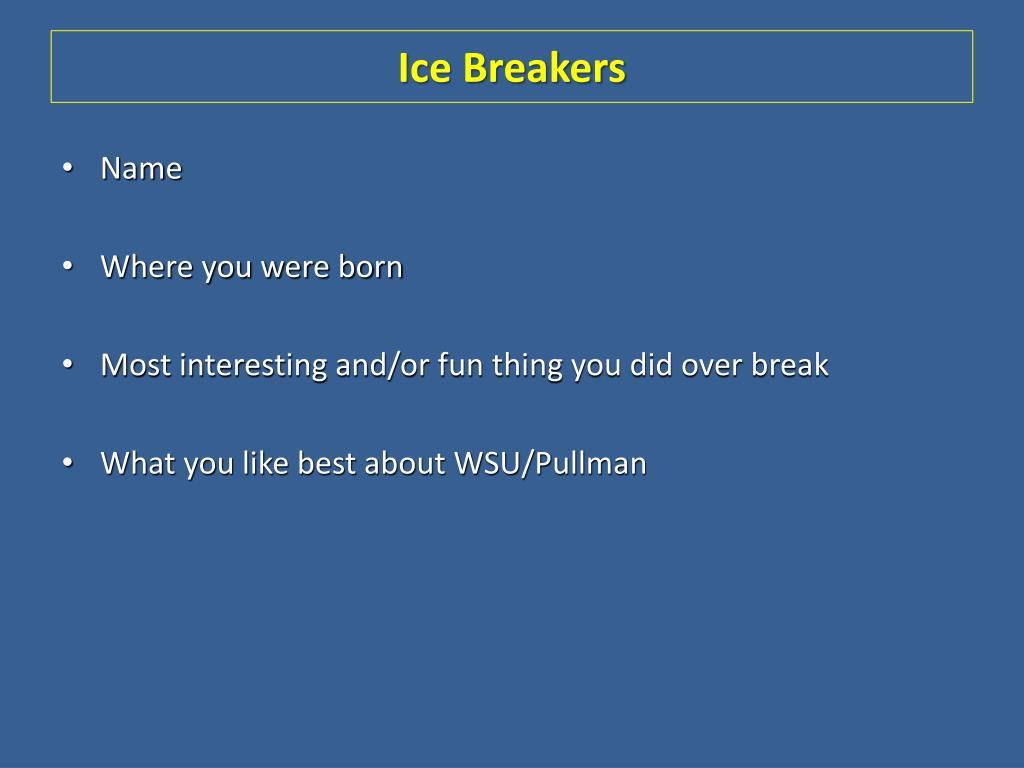 ice breakers l.