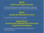 step 8 collect and prepare the data