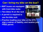 can i bring my bike on the bus