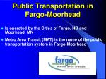 public transportation in fargo moorhead