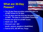 what are 30 day passes