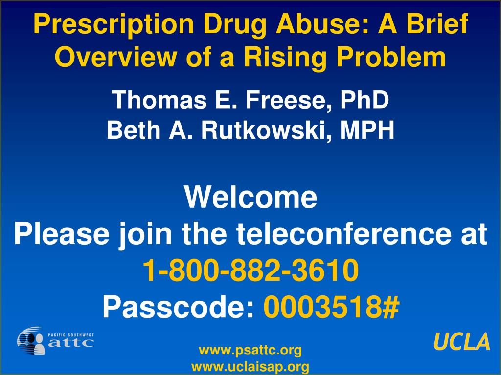 prescription drug abuse a brief overview of a rising problem l.