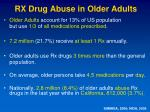 rx drug abuse in older adults