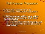 rui proposal preparation