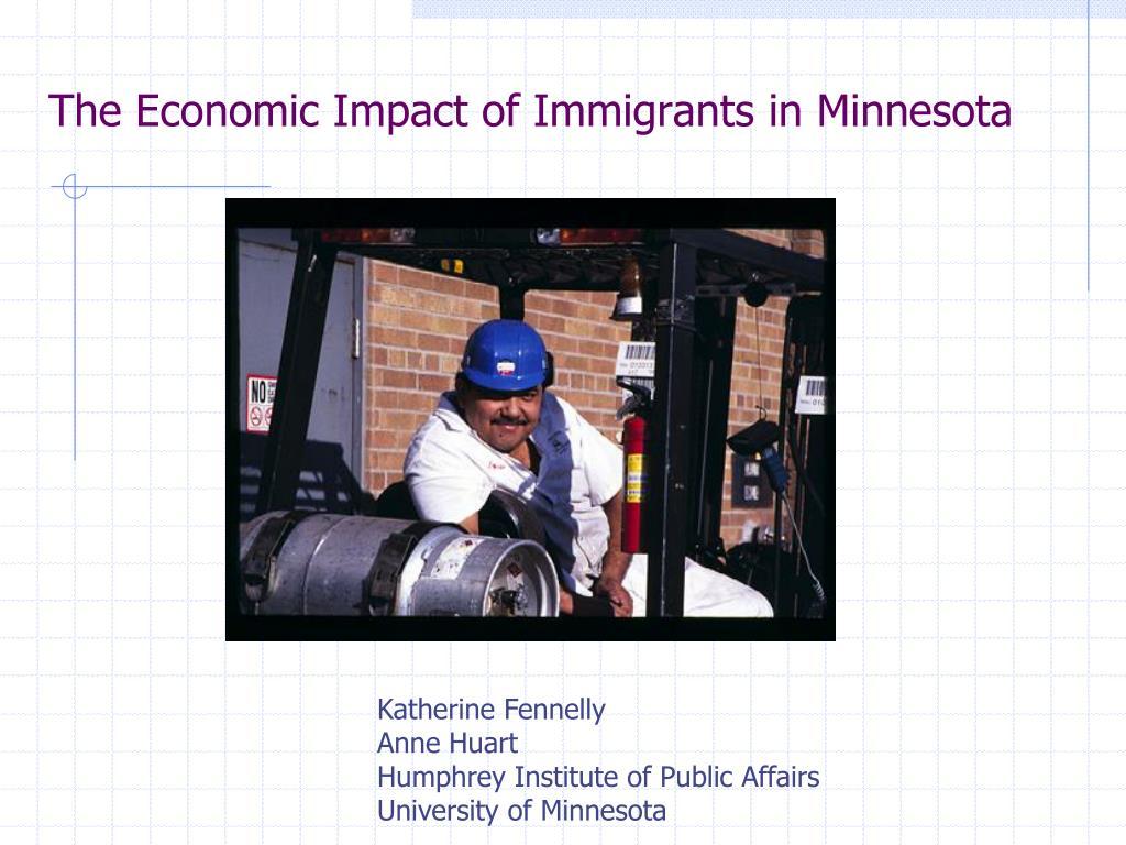 the economic impact of immigrants in minnesota l.
