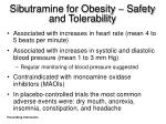 sibutramine for obesity safety and tolerability