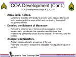coa development cont coa development steps 3 4 5