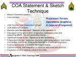 coa statement sketch technique