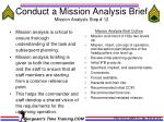 conduct a mission analysis brief mission analysis step 12