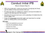 conduct initial ipb mission analysis step 2
