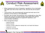 conduct risk assessment mission analysis step 7