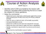course of action analysis mdmp step 4