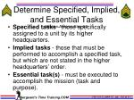 determine specified implied and essential tasks mission analysis step 3