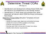 determine threat coas ipb step 4