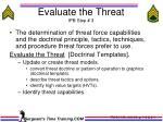 evaluate the threat ipb step 3