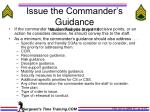 issue the commander s guidance mission analysis step 15