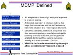 mdmp defined
