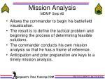 mission analysis mdmp step 2