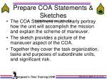 prepare coa statements sketches coa development step 6