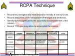 rcpa technique