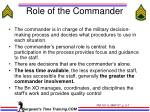 role of the commander