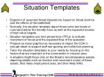 situation templates