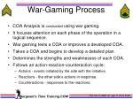war gaming process