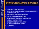 distributed library services