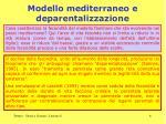 modello mediterraneo e deparentalizzazione