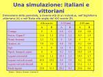 una simulazione italiani e vittoriani