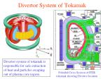 divertor system of tokamak