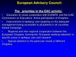 european advisory council