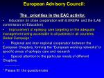 european advisory council11