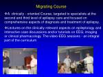 migrating course