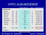 hypo albuminemie