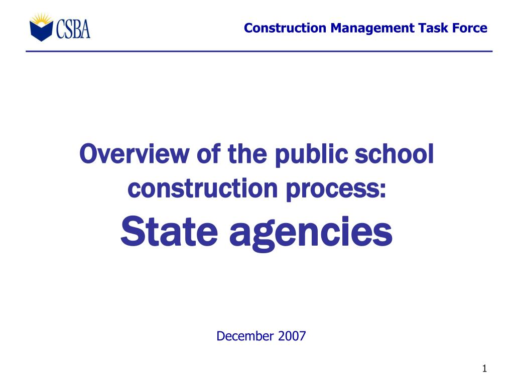 overview of the public school construction process state agencies l.