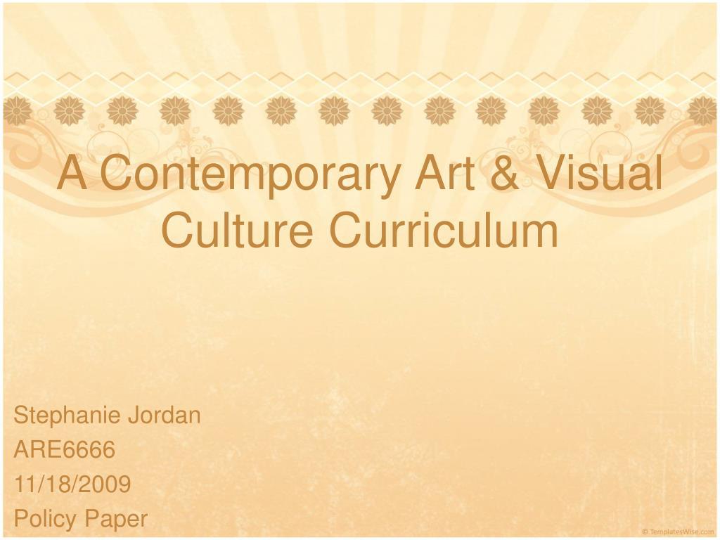 a contemporary art visual culture curriculum l.