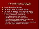 conversation analysis