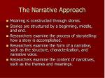 the narrative approach