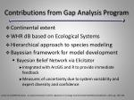 contributions from gap analysis program29