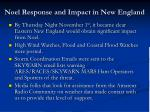 noel response and impact in new england