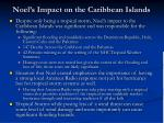 noel s impact on the caribbean islands