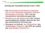 aufstieg der sozialdemokratie nach 1945